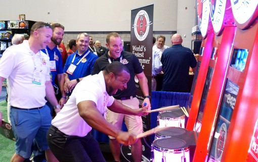 IAAPA 2017, World's Fastest Drummer Arcade
